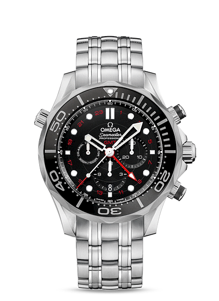 Réplique Omega Seamaster Diver 300 Co-Axial Chronographe GMT 212.30.44.52.01.001 Montre