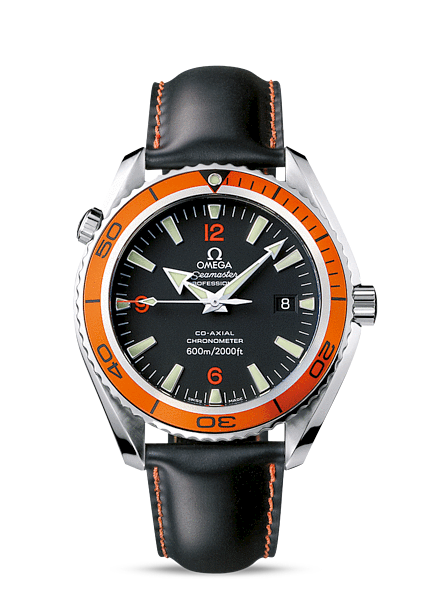 Réplique Omega Seamaster Planet Ocean Olympiens orange Bezel 2908.50.82 Montre
