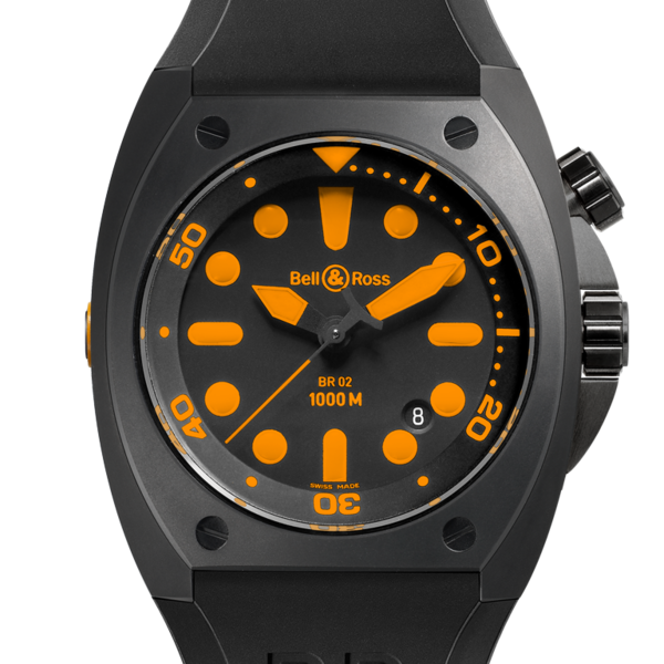 Réplique Bell & Ross BR 02-92 Marine orange Carbon BR 02-92 ORANGE Montre