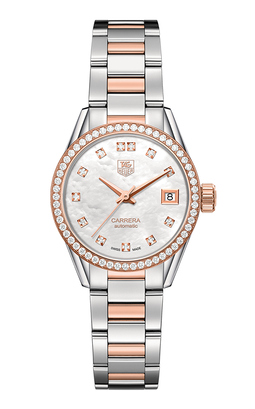 Réplique Tag Heuer Carrera Calibre 9 dames 28mm WAR2453.BD0772 Montre