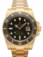 Réplique Rolex Submariner Date Jaune or noir Dial 116618LN Montre