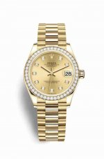 Copie de Rolex Datejust 31 jaune 278288RBR