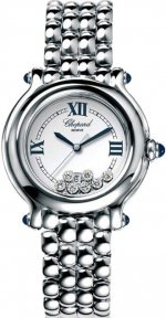 Réplique Chopard Happy Sport Classic Round Quartz 32mm Femme 278236-3005 Montre
