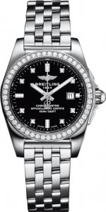 Breitling Galactic Acier inoxydable Noir Dial Dame A7234853/BE50/791A Montre