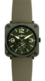 Réplique Bell & Ross Quartz en ceramique milieu de 39mm Military Cer BR S MILITARY CERAMIC Montre