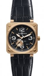 Réplique Or Rose Bell & Ross reserve de marche 46mm Hommes BR 01-97 PINK GOLD Montre
