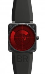 Réplique Radar Red Bell & Ross 46mm hommes automatiques BR 01 RED RADAR Montre