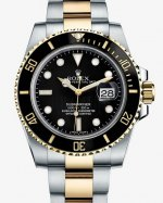 Réplique Rolex Submariner Date Two Tone noir Dial 116613LN Montre