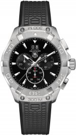 TAG Heuer Aquaracer Noir Dial Chronographe Rubber Strap CAY1110.FT6041