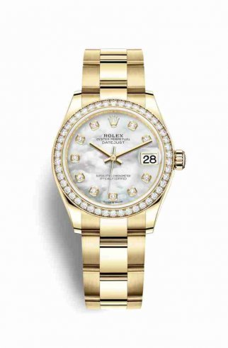 Copie de Rolex Datejust 31 jaune 18 ct 278288RBR