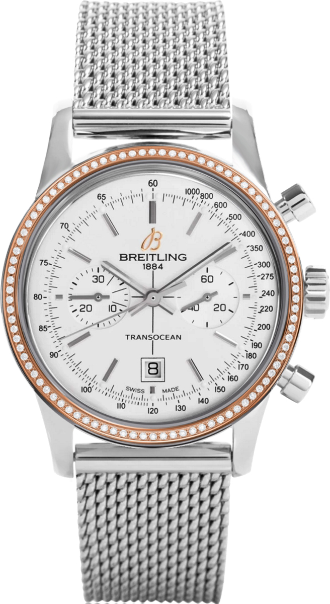 Breitling Transocean Chronographe 38 U4131053/G757/171A or rose Montre