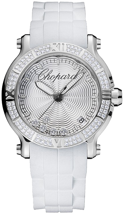 Réplique Chopard Happy Sport Quartz ronde 36mm Femme 278551-3003 Montre